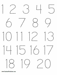 Printables Number Writing Worksheets 1-20 randomworksheets com create free printable worksheets for kids number tracing worksheet 1 10 and 20
